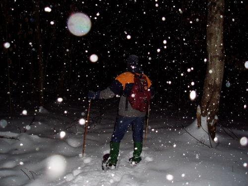 Jan snowshoing